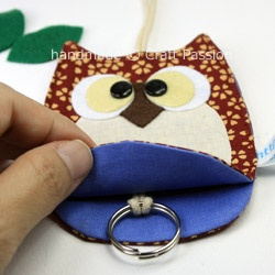 Sewing: Owl Key Chain Holder