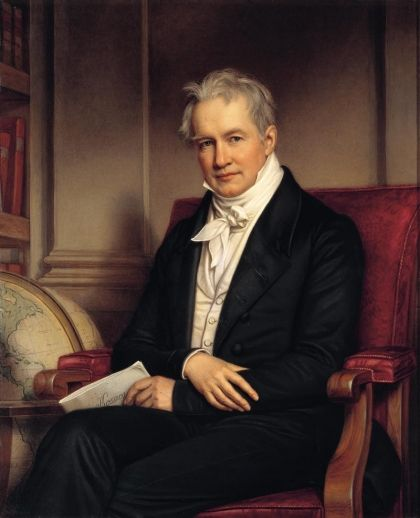Alexander von Humboldt (1769–1859). Prussian geographer, naturalist and explorer. His quantitative work on botanical geography laid the foundation for the field of biogeography. Humboldt travelled extensively in Latin America, exploring and describing it for the first time from a modern scientific point of view. His description of the journey was published in an enormous set of volumes over 21 years. Was one of the first to propose that the lands bordering the Atlantic Ocean were once…