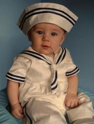 A2784 Duke Little Darlings Victorian Sailor Christening Set