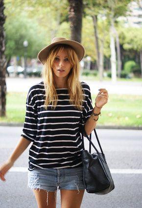 Vintage  Sombreros, romwe  Camisetas and levi's  Pantalones cortos