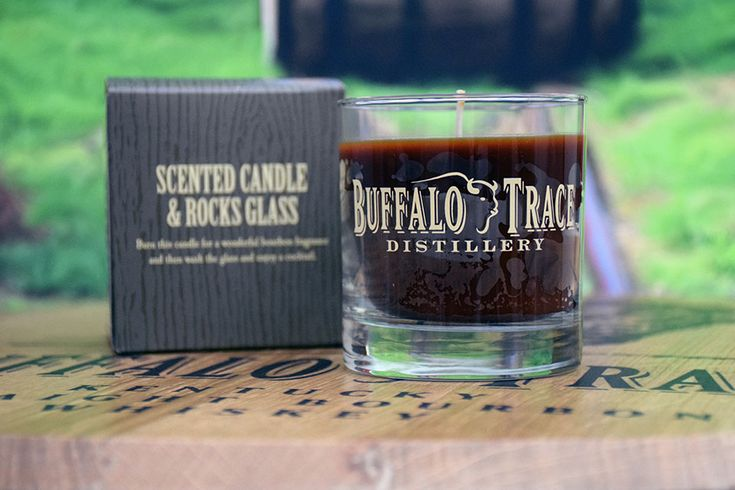 Bourbon candle in rocks glass bourbon candles rock