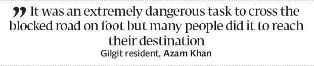 Open for traffic: Karakoram Highway cleared of boulders - The Express Tribune