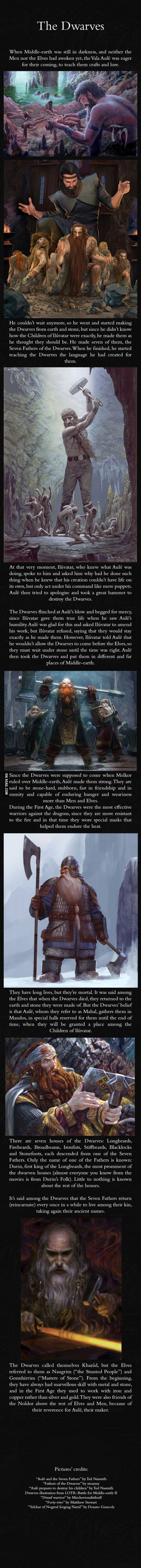 Dwarves - J.R.R. Tolkien's Mythology. It kind of reminds me of Biblical reference to Abraham and Isaac.