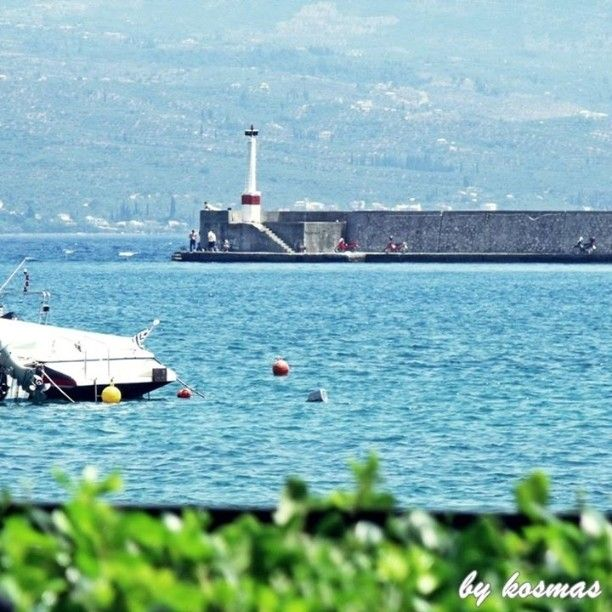 The red lighthouse of the port in Kalamata. Photo from our vacation in June 2010.  #seaview #Greece #sea #nature #ilovesea #blue #summer #summervacations  #fishermen #sealife #instagrampics #fishing