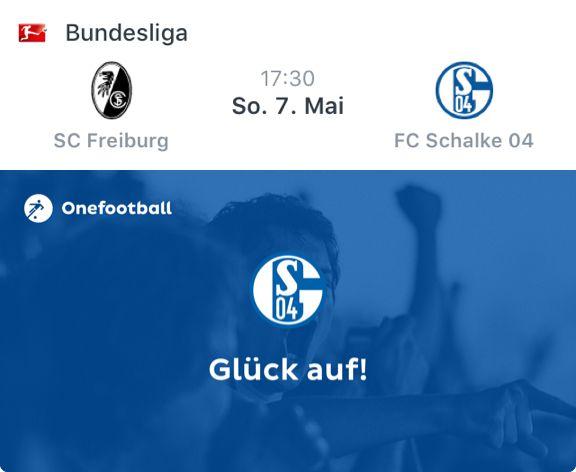 Ich feuere FC Schalke 04 gegen SC Freiburg an.