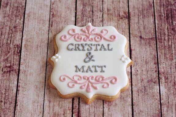 Wedding cookies #reception #dessert #sweets
