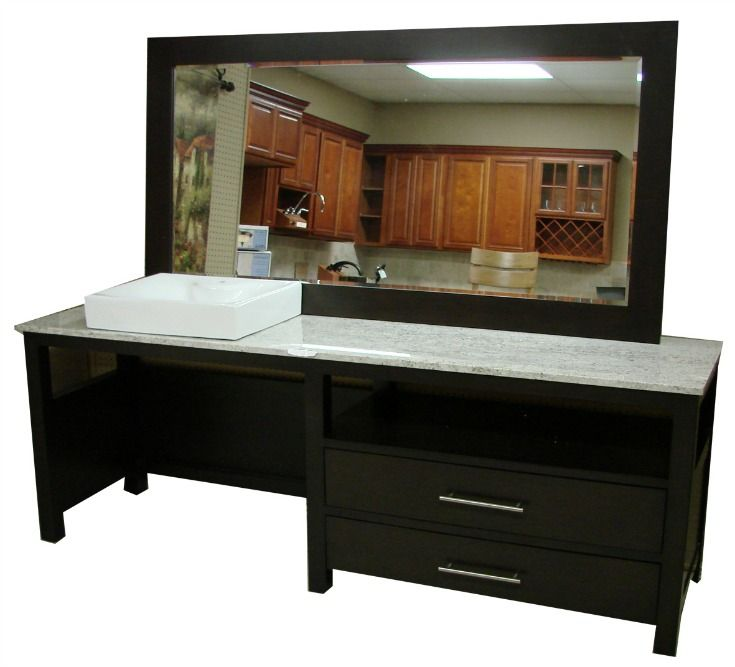 ADA compliant cabinet with marble top. Click on pin to ...