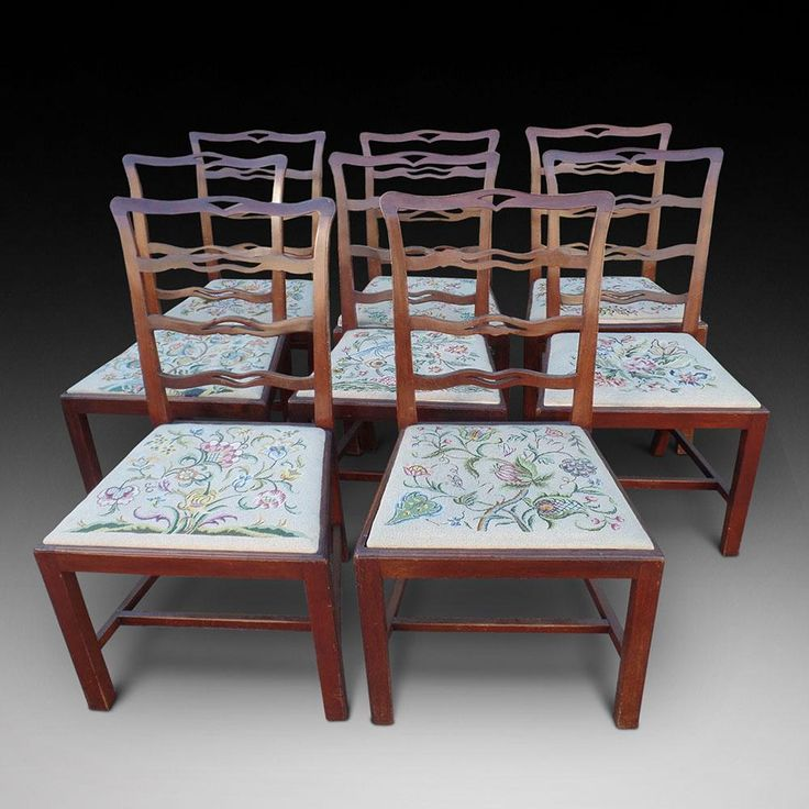 A Set Of Eight Ladder Back Chairs | Looking For Antiques - 68 Best Looking For Antiques Chairs Images On Pinterest Antique