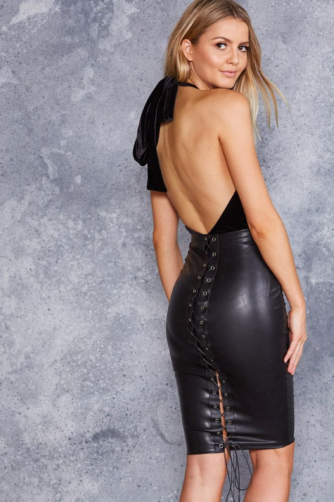The Bound Midi Pencil Skirt - LIMITED ($90AUD) by BlackMilk Clothing