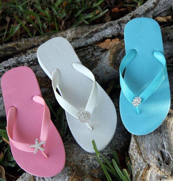 Bridal flip flops, Womens flip flop