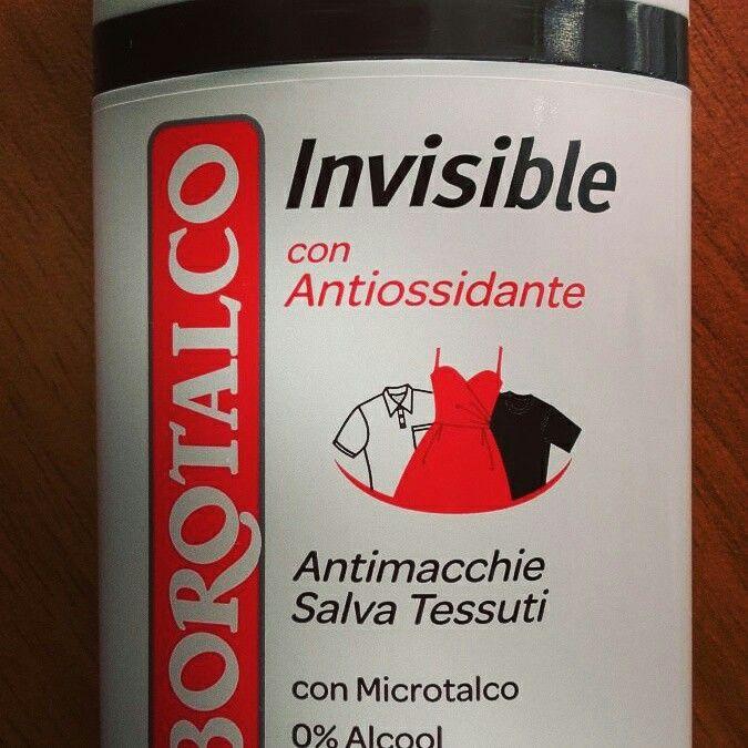 Deodorante stick Borotalco Invisible Antimacchia con microtalco. 0% Alcool. Fresco, super-assorbente e profumatissimo. Non lascia residui. Con antiossidante per mantenere sana la nostra pelle.