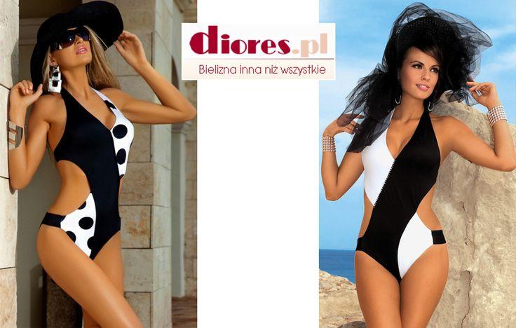 A co powiecie na monokini? W klasycznej i zawsze modnej bieli i czerni? Zobaczcie proponowane przez nas modele na www.diores.pl w naszych nowościach. #nowość #strójkąpielowy #monokini #tankini #bikini #biały #czarny