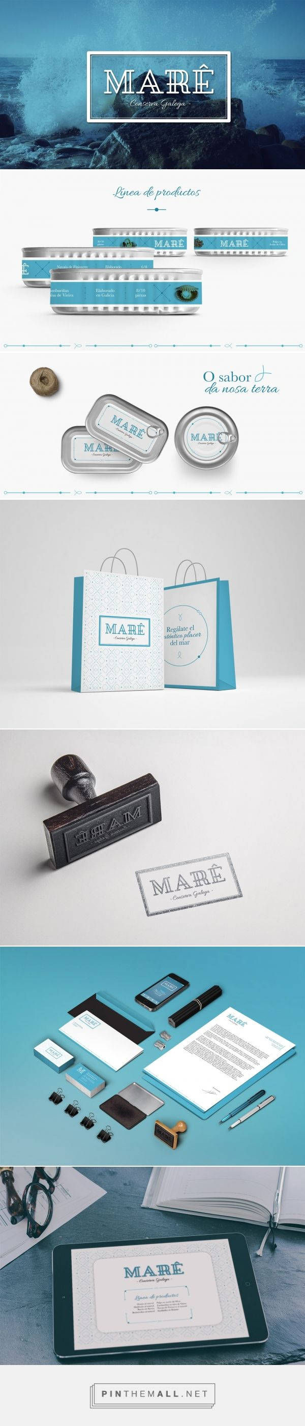 Brandinal Agencia de Marketing y Publicidad Vigo - Brandinal | Marê curated by Packaging Diva PD. My Spanish is a little rusty, seafood identity packaging branding.