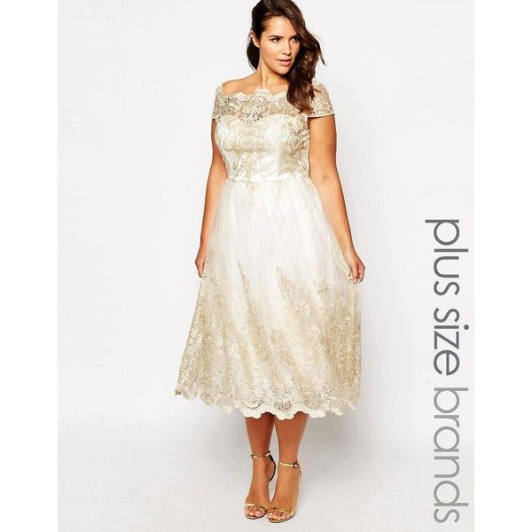 Chi Chi London Plus Premium Lace Prom Dress With Cap Sleeve ($105) ❤ liked on Polyvore featuring dresses, cream, plus size, pink lace cocktail dress, pink lace dress, cream prom dresses, lace dress and cocktail prom dress