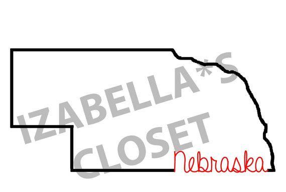 Nebraska Outline State Vecor SVG by IzabellasCloset on Etsy