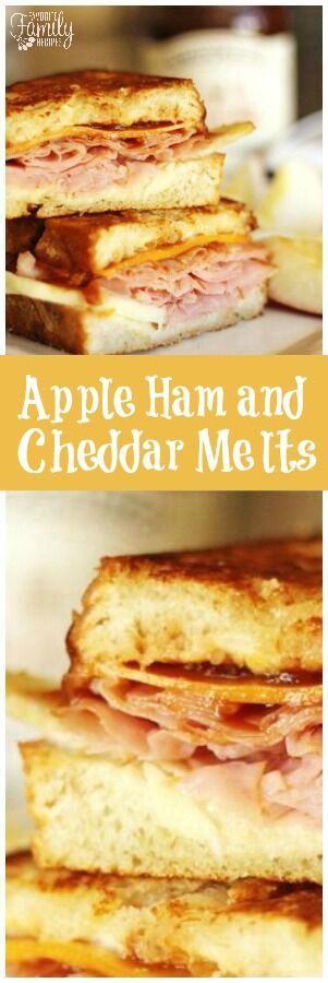 These aren't your average ham & cheddar melts! Add some brie, apple, and apple butter and you have one mouthwatering sandwich! via @favfamilyrecipz