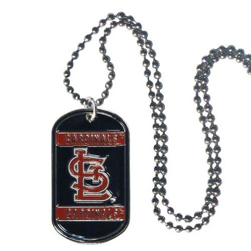 St. Louis Cardinals Dog Tag Necklace Neck Tag Team Logo Engraveable Chain #StLouisCardinals