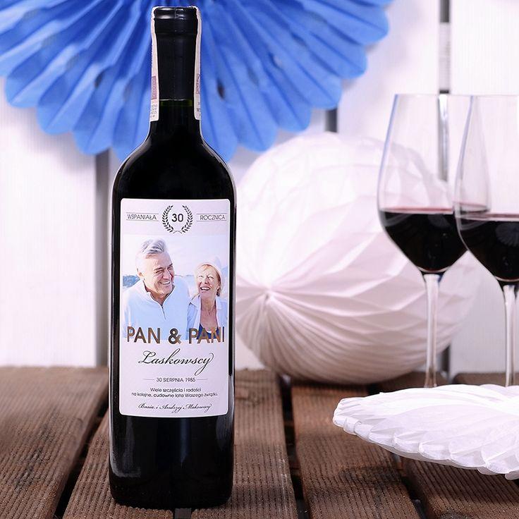 fotograficzne prezenty na rocznicę - wino personalizowane