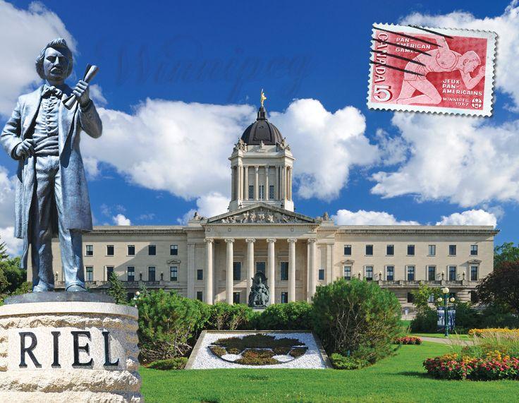 Louis Riel's statue in Winnipeg