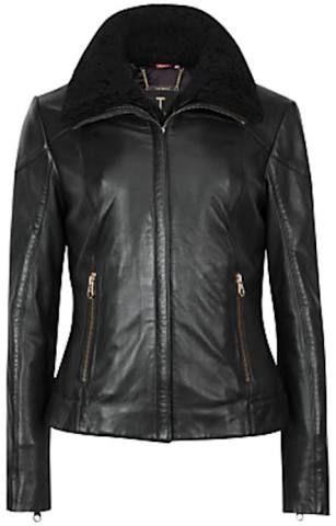 Image result for ted baker shearling leather jacket ciel
