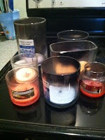 How to clean out used candle jars.
