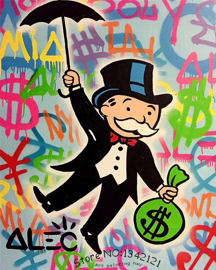 Alec-monopoly-wall-street-ART-canvas-imprimir-POP-ART-gicl&eacute (800×1000)