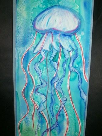 Artsonia Art Museum :: mixed media jelly fish - 2008