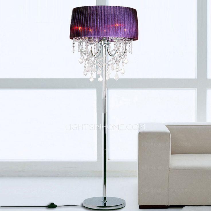 Crystal Purple Elegant Modern Floor Lamps Cheap