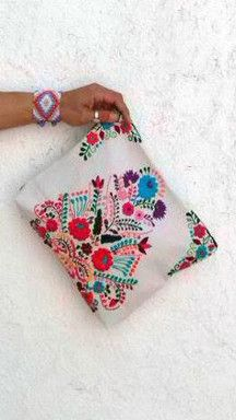 Michelle embroidered Clutch