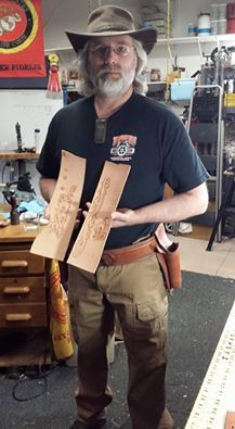 Bob came all the way from Minnesota for a 5 day class. A full rig and two days of carving. He left with a head full!