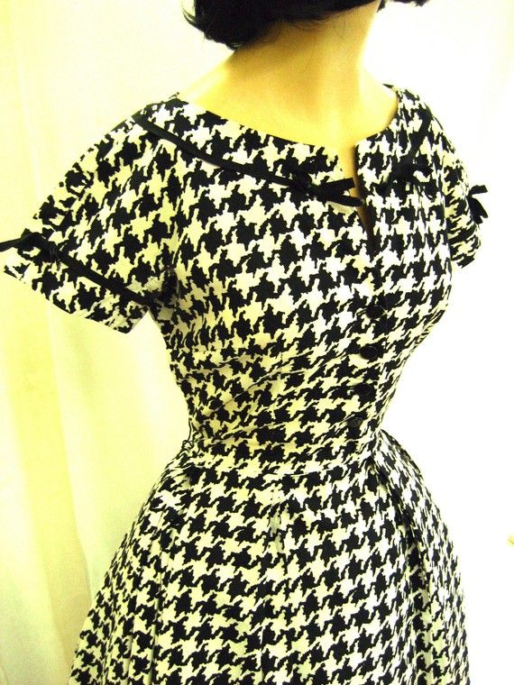 houndstooth, 1950's day dress