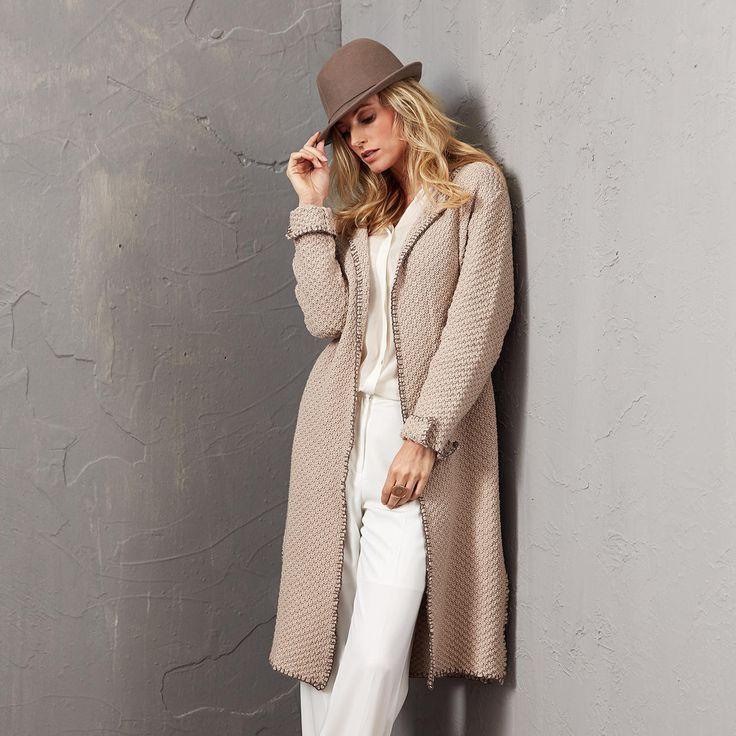 Modell 469/5, Mantel aus Merino-Cotton von Junghans-Wolle « Damenjacken & Mäntel « Strickmodelle Junghans-Wolle « Stricken & Häkeln im Junghans-Wolle Creativ-Shop kaufen