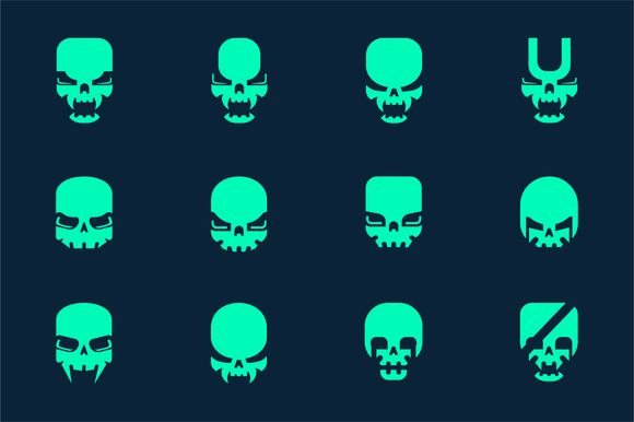 SKULL LOGO BUNDLE by BekBlack on @creativemarket