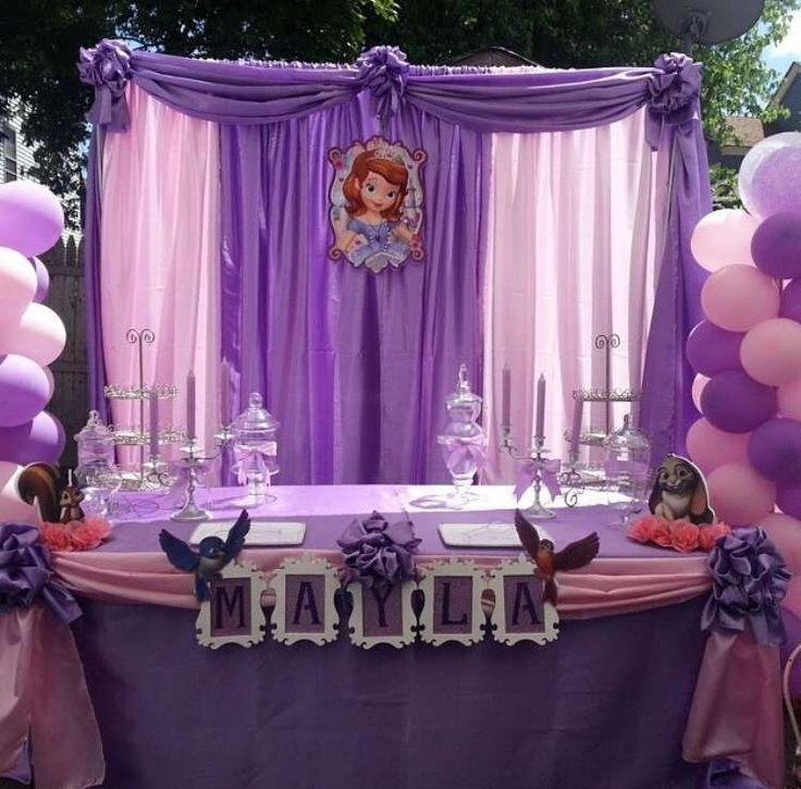 Princess sophia birthday party ideas for Party backdrop ideas