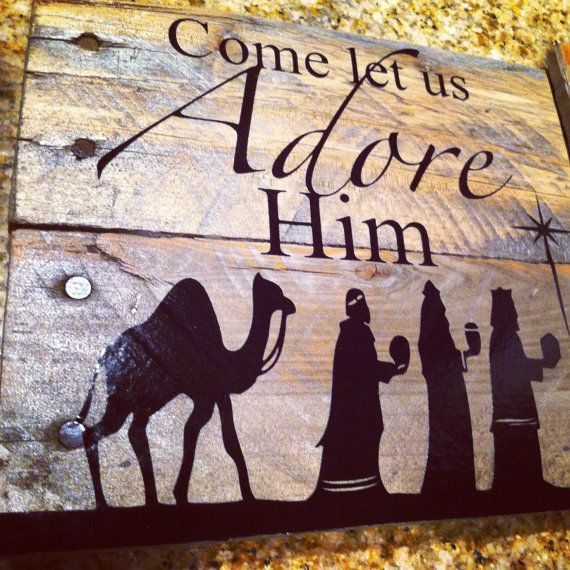 Holiday Decorative Sign by ManySplinteredThings on Etsy, $20.00