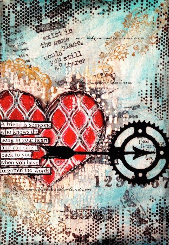 NIKA IN WONDERLAND: ART JOURNAL PAGE | MICHELLE'S HEART