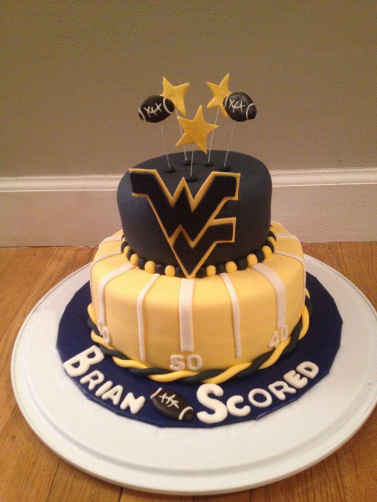 Wvu Cake By Jaxi In 2019 Cupcake Cakes Cake Birthday Cake