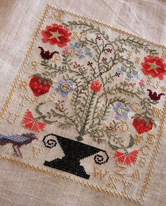49 best sampler images on pinterest crossstitch for Blackbird designs strawberry garden