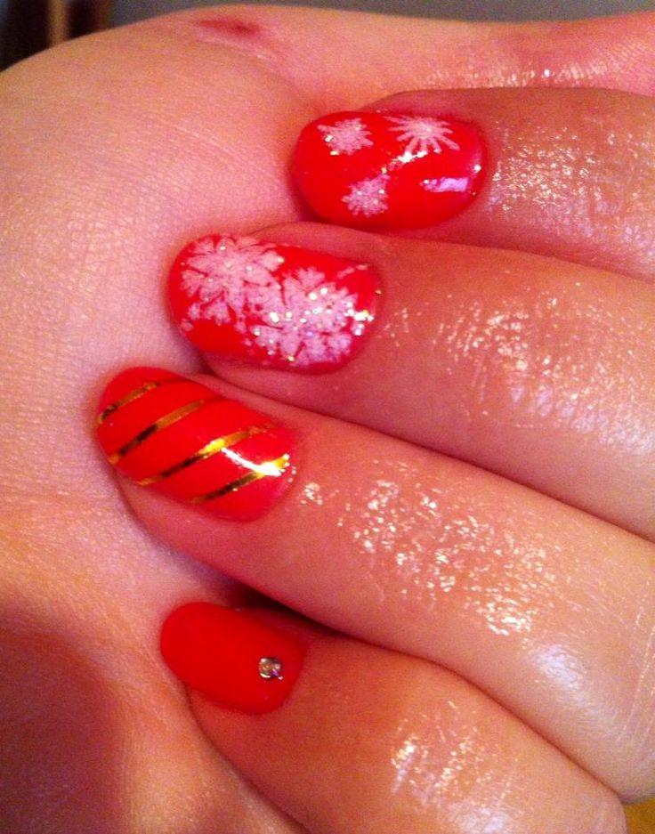 gel ενήσχυση φυσικού νυχιού χρώμα gel και χριστουγενιάτικο mood <3
