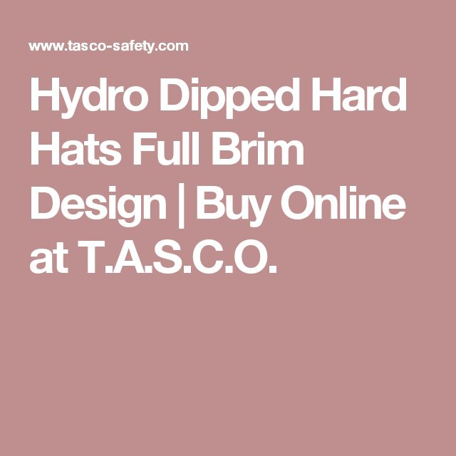 Hydro Dipped Hard Hats Full Brim Design | Buy Online at T.A.S.C.O.