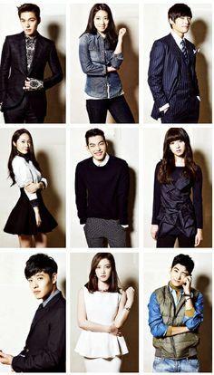 "Lee Min-ho , Park Shin-hye , Choi Jin-hyuk , Kim Woo-bin , Kang Min-hyuk , Krystal Jung , Kim Ji-won , Kang Ha-neul , Park Hyung-sik ♡ ""HEIRS"" a.k.a ""THE INHERITORS"" Cast"