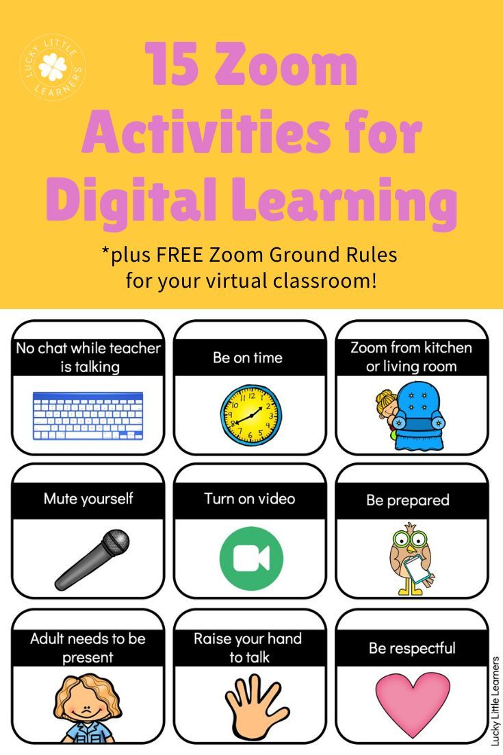 Zoom Activities To Use With Distance Learning Digital Learning Classroom Distance Learning Classroom Expectations
