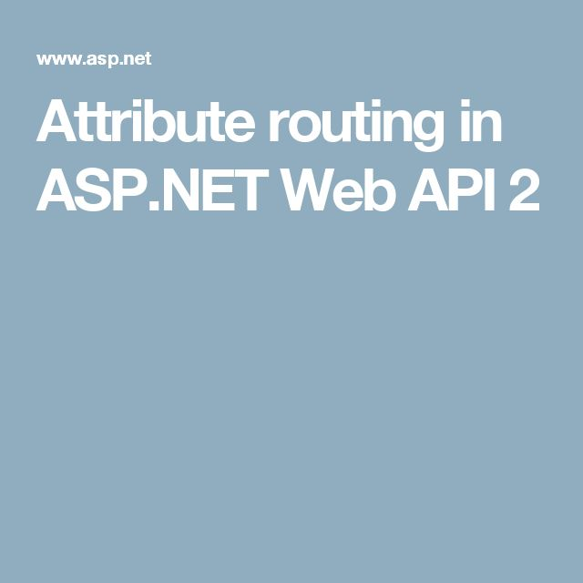 Attribute routing in ASP.NET Web API 2