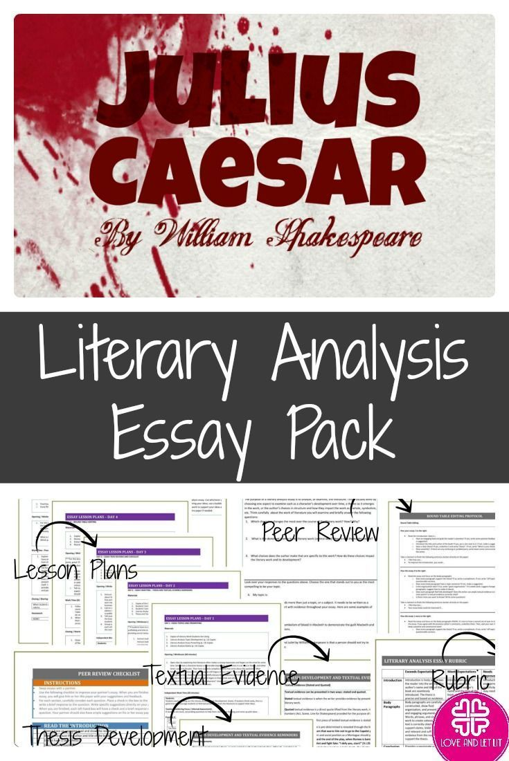 teach analysis essay
