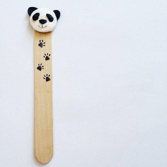 Segnalibri con animali bomboniera - panda, segnalibro, bookmark, fimo, bomboniera, bomboniere, favors, comunione, battesimo