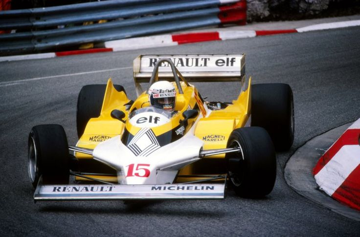 Alain Prost in the Renault RE30 at the 1981 Monaco GP
