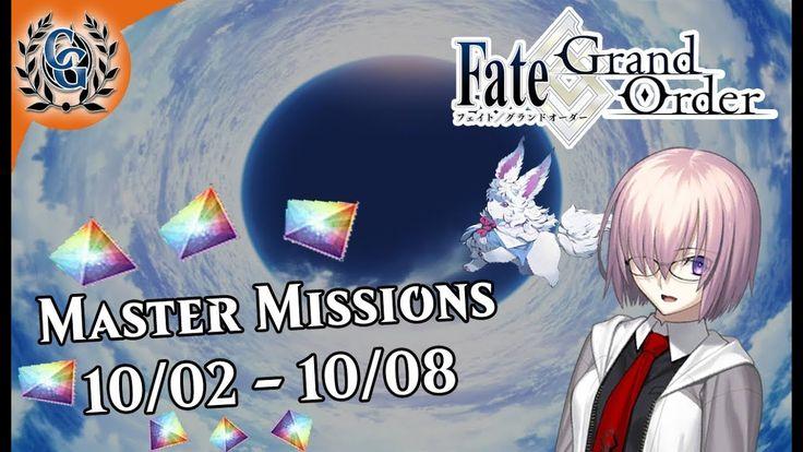 Chaldea Gurus FGO Master Missions 10/02 10/08