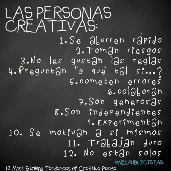 12 síntomas de las personas creativas... ¿eres creativa?  #creatividad #happy