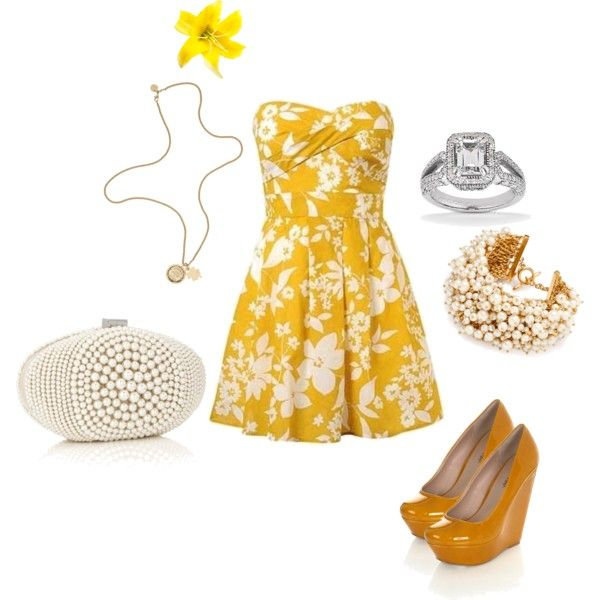 Must find a yellow dress like this for summer :)