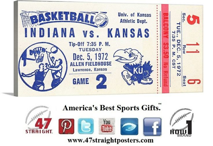 Vintage basketball ticket